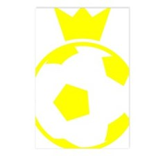 Sweden Soccer Ball Crown Postcards (Package of 8)
