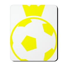 Sweden Soccer Ball Crown Mousepad
