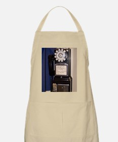 Rotary-dial telephone with coinbox Apron