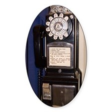 Rotary-dial telephone with coinbox Decal