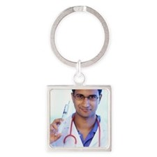 Doctor Square Keychain