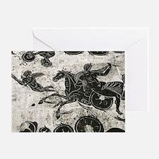 Roman mosaic, Ostia Antica Greeting Card