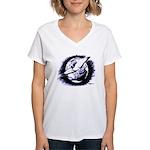 Earth Homer Pigeon Women's V-Neck T-Shirt