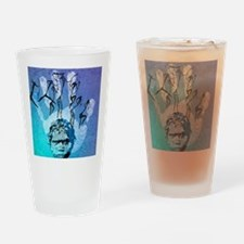 Rock painting Drinking Glass