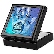 Rock painting Keepsake Box