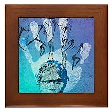 Rock painting Framed Tile