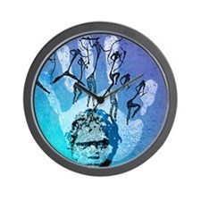 Rock painting Wall Clock
