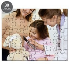 Doctor and child playing Puzzle