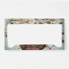 Roman mosaic License Plate Holder