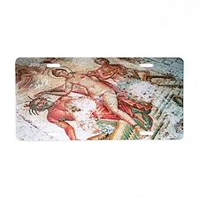 Roman mosaic Aluminum License Plate