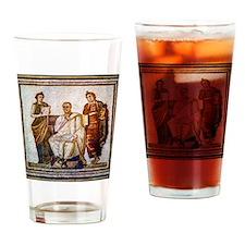 Roman mosaic Drinking Glass