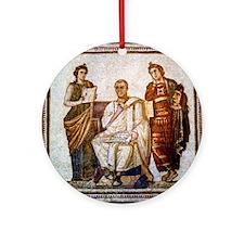 Roman mosaic Round Ornament