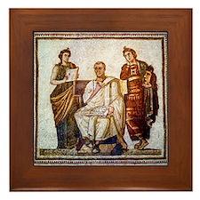 Roman mosaic Framed Tile