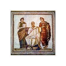 "Roman mosaic Square Sticker 3"" x 3"""