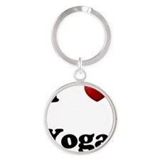 Yoga Round Keychain
