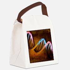 DNA molecule, artwork Canvas Lunch Bag