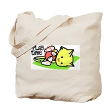 Playtime Kitten Tote Bag