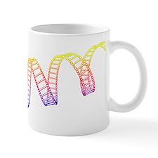 DNA molecule, artwork Mug