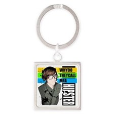 HIPSTER Square Keychain