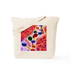 DNA molecule, computer artwork Tote Bag