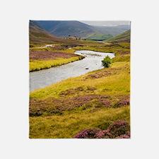 River Clunie, Scotland, UK Throw Blanket