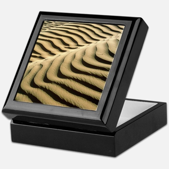 Rippled sand dunes Keepsake Box