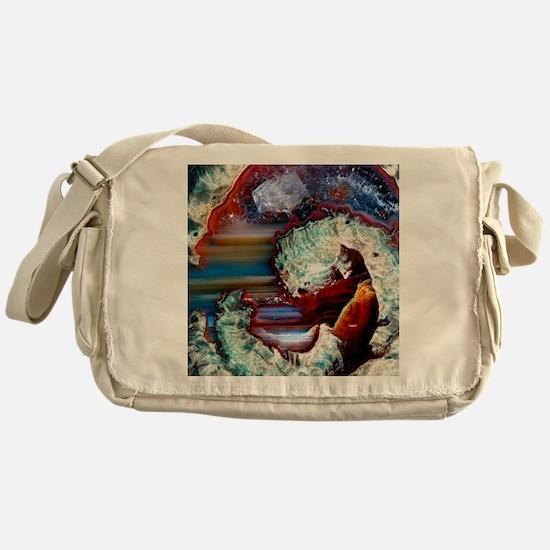 Rhyolitic geode Messenger Bag