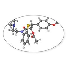 Diltiazem molecule Decal