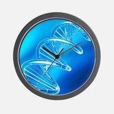 DNA molecule, artwork Wall Clock