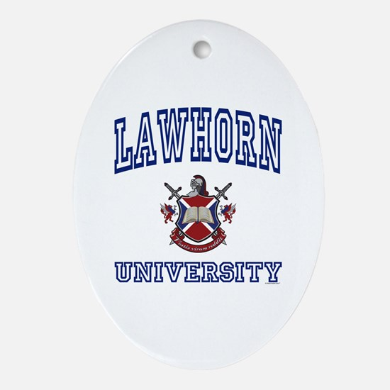 LAWHORN University Oval Ornament