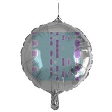 DNA autoradiogram, artwork Balloon