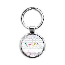 DNA analysis Round Keychain