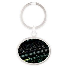 DNA analysis Oval Keychain