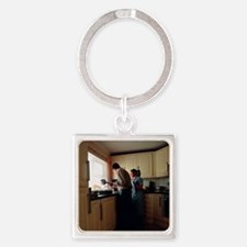 Residential geriatric care Square Keychain