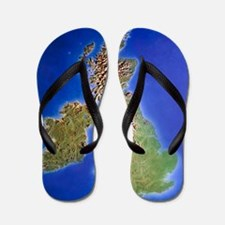 Relief map of the United Kingdom and Ei Flip Flops