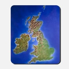 Relief map of the United Kingdom and Eir Mousepad