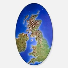 Relief map of the United Kingdom an Decal