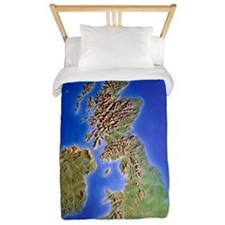 Relief map of the United Kingdom and Ei Twin Duvet