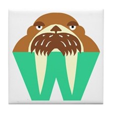 W is for Walrus Tile Coaster