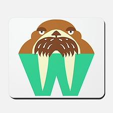 W is for Walrus Mousepad