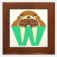 W is for Walrus Framed Tile