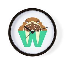 W is for Walrus Wall Clock