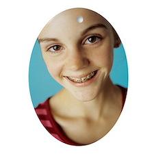 Dental braces Oval Ornament