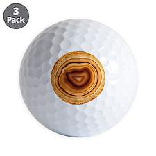 Cut agate Golf Ball