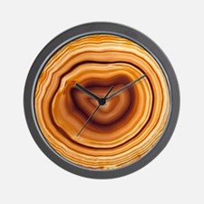 Cut agate Wall Clock