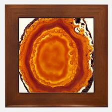 Cut agate Framed Tile