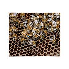Queen bee with worker bees Throw Blanket