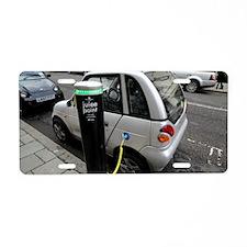 Recharging an electric car Aluminum License Plate