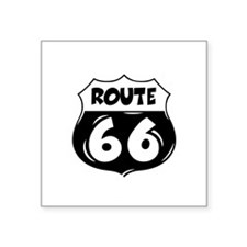 """Festive Route 66 Square Sticker 3"""" x 3"""""""