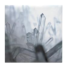 Quartz crystals Tile Coaster